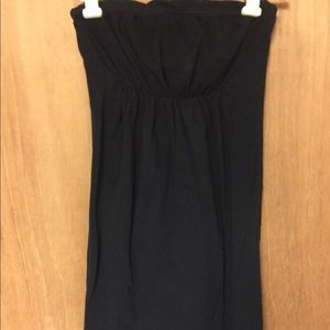 Black Strapless Casual Dress